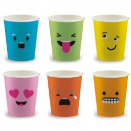 Gobelets Distributeur Automatique en Carton 15 cl - French Collection Emoticones - par 100