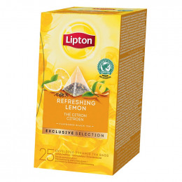Thé Noir Lipton Exclusive Sélection Citron - 25 sachets pyramide