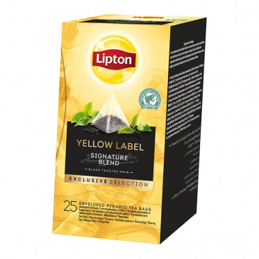 "Thé Yellow Label Lipton ""Exclusive Sélection"" - 25 pyramides"