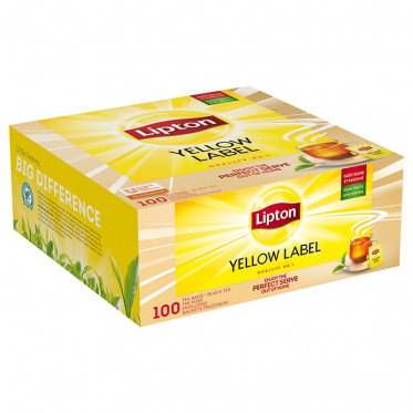Thé Lipton Yellow Label Tea x 100 sachets fraicheurs