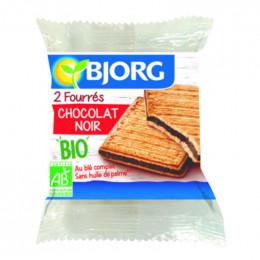 Biscuits diététiques Bjorg Fourré Chocolat Noir - 50g