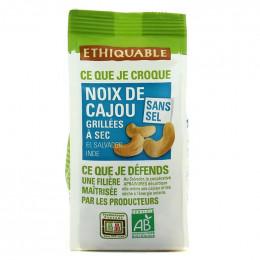 Fruits Secs Ethiquable Noix de Cajou grillées Sans sel - Bio - 100g