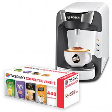 Machine Tassimo Suny Blanc et Chrome : Bosch TAS3204