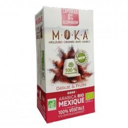 Capsules Nespresso compatible - Bio et compostable - Moka Mexique - 10 capsules