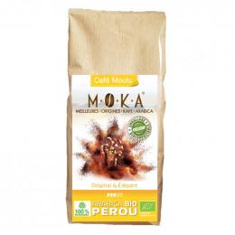 Café moulu Bio Moka Perou - Emballage biodégradable - 200g