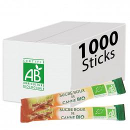 Buchettes de Sucre Roux de Canne Bio - Carton 1000 sticks