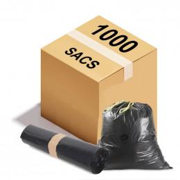 Sac poubelle à lien coulissant - 50 L - 26 microns - Par 1000
