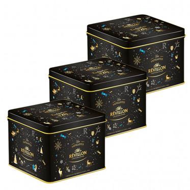 Boite Collector en métal Révillon : Assortiment de Chocolats 350 gr - Lot de 24 boites