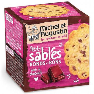 Petits Sablés Ronds et Bons aux Gouttes de Chocolat 40 gr