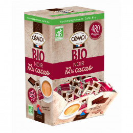 Boite Distributrice Cémoi : Napolitain Chocolat Noir Bio 72% Cacao - 480 chocolats