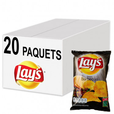 Biscuits Apéritif - Chips Lay's Saveur Barbecue 45g - 20 Paquets