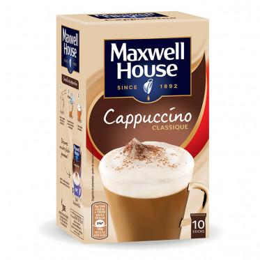 Café Gourmand Cappuccino Maxwell House - 10 sticks