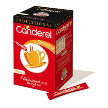 Buchettes de Sucre Edulcorant Sucralose Canderel - Boite distributrice 250 sticks