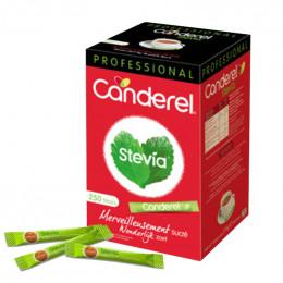 Buchettes de Sucre Stevia Edulcorant Canderel - Boite distributrice 250 sticks