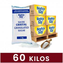 Sucre en poudre Cristal Beghin Say pour Distributeur Automatique - 60 paquets - 60 Kg