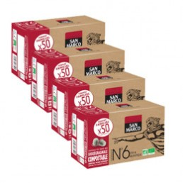 Capsules Nespresso compatible - biodégradable et compostable - N°6 Bio San Marco - Vrac 200 capsules