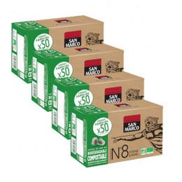 Capsules Nespresso compatible - biodégradable et compostable - N°8 Bio San Marco - Vrac 200 capsules