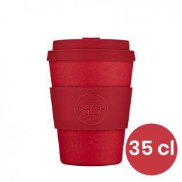 Mug en Bambou écologique, avec couvercle - Ecoffee Cup Red Down - 35 cl