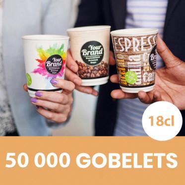 Gobelet Personnalisé écologique en Carton Biodégradable - 10 cl - Carton 1000 unités
