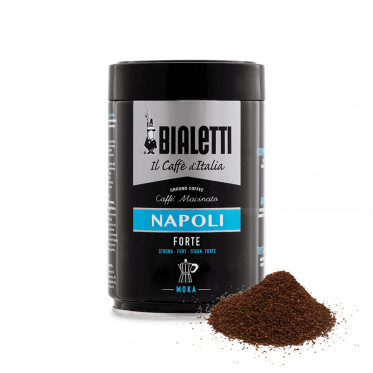 Café Moulu Bialetti - Napoli Moka - Boite hermétique - 250 gr