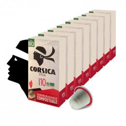 Capsules Nespresso compatible - compostable et BIO - Cafés Corsica - 10 capsules