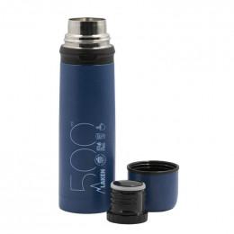 Bouteille isotherme Laken avec couvercle tasse - Bleu - 50 cl