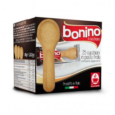 Biscuits cuillère à manger Bonino Il Biscottino - Caffè Bonini - 1 boite - 25 cuillères
