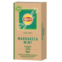 Capsule Nespresso Compatible Lipton Thé Vert Menthe Marrakech - 10 capsules