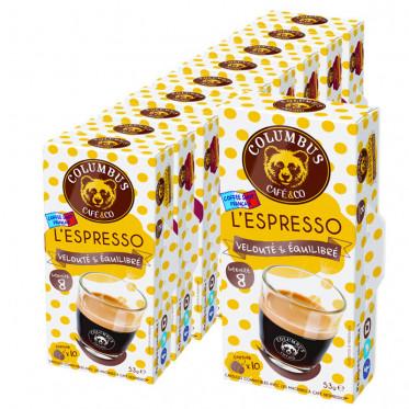 Capsule Nespresso Compatible Café Espresso - Columbus Café - 10 capsules