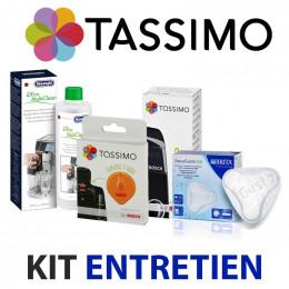 Kit entretien Machine à café TASSIMO - Nettoyage, détartrage, filtre à eau, T-disc orange