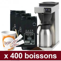 """Machine Excelso T avec Café Moulu Café de Paris : Pack Pro """"Medium"""" - 800 boissons"""