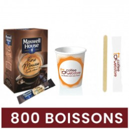 Pack Café Soluble Maxwell House Max Fine Mousse Intense - 800 boissons