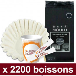 """Café Moulu Café de Paris Grand Arome Arabica : Pack Pro """"Large"""" - 2200 boissons"""