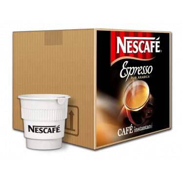 Café Gobelets Pré-dosés au Carton Nescafé Espresso Non Sucré