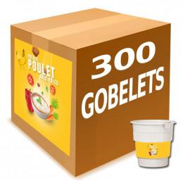 Gobelet Pré-dosé au Carton Potage gout Poulet et Pates - 20 boissons