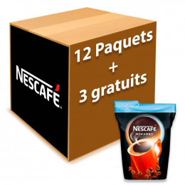 Café Soluble Nescafé® Mokambo Tradicion - 12 paquets + 3 offerts