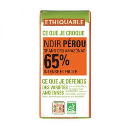 Mini tablette de chocolat noir 65% Ethiquable