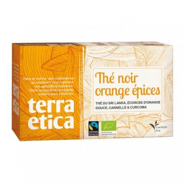 Thé Noir Orange épices - Origine Sri Lanka - Terra Ética - 20 sachets
