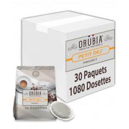 Dosette souple Orubia Petit Dej' – 30 paquets – 1080 pads