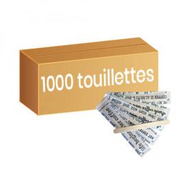 Touillette (spatule) en Bois 105 mm emballage papier individuel - par 1000