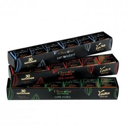 Coffret Napolitains Voisin - 3 parfums - 90 carrés - 450 gr