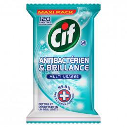 Lingettes Anti-bactériennes et Désinfectantes CIF - 120 lingettes