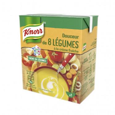 Repas Express Knorr Soupe Douceur 8 légumes Crème fraiche - 30 cl