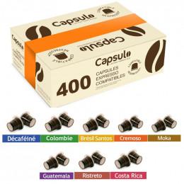 PACK CAPSULO : Capsules Nespresso Compatibles - 400 capsules