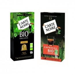 PACK Découverte Carte Noire BIO Capsule Nespresso Compatible- 2 boites - 20 Capsules