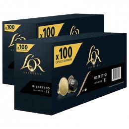 Capsule Nespresso Compatibles L'Or Espresso Ristretto - 10 boîtes - 200 capsules