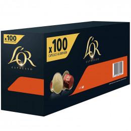 Capsule Nespresso Compatible Café L'Or Espresso Delizioso - 10 boîtes - 100 capsules