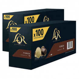 Capsule Nespresso Compatibles L'Or Espresso Forza - 10 boîtes - 200 capsules