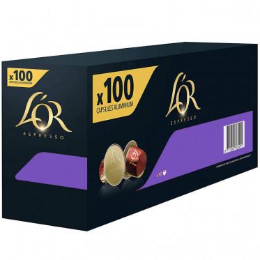 Capsule Nespresso Compatibles L'Or Espresso Lungo Profundo - 10 boîtes - 100 capsules