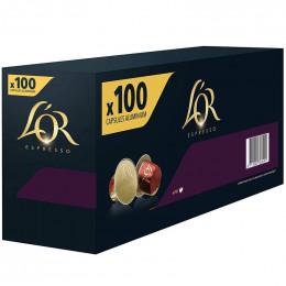 Capsule Nespresso Compatible Café L'Or Espresso Supremo - 10 boîtes - 100 capsules